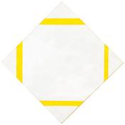 Piet mondrian art lozenge composition with four yellow lines